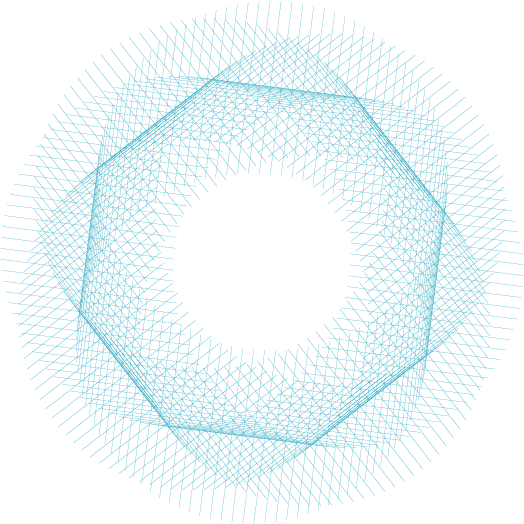 Blue spiral representing NET project