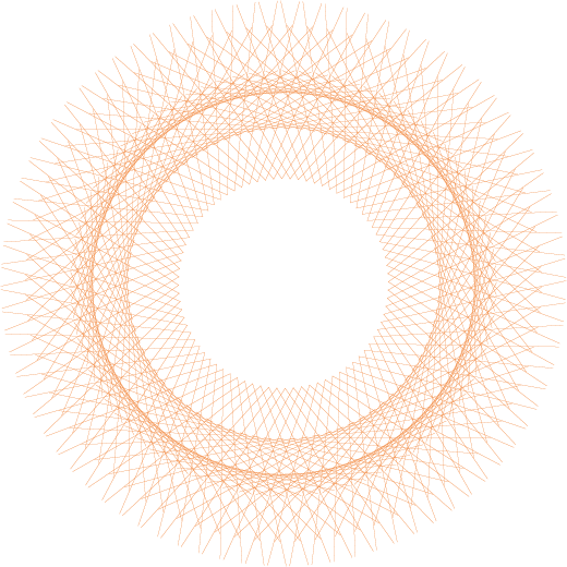 Orange Spiral representing PRIOR project