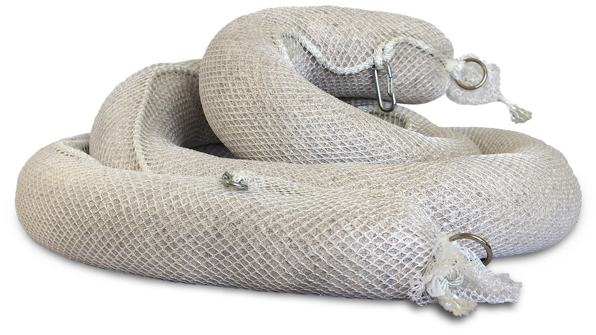coiled Biosorb oil absorbent boom