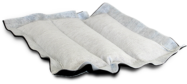 Biosorb oil spill containment pillow