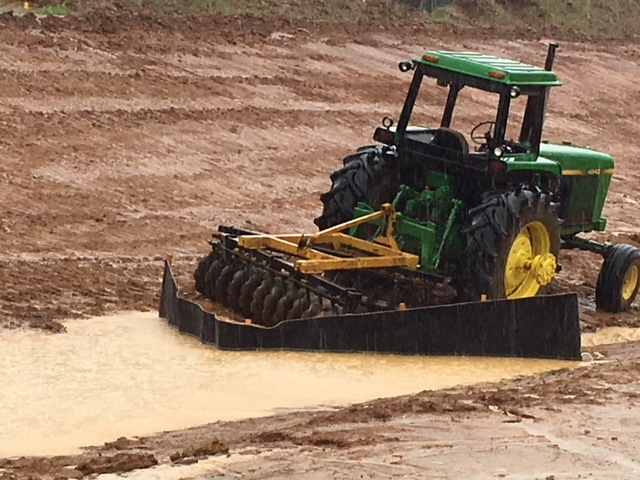 Siltron being used for erosion and sediment control in ditch