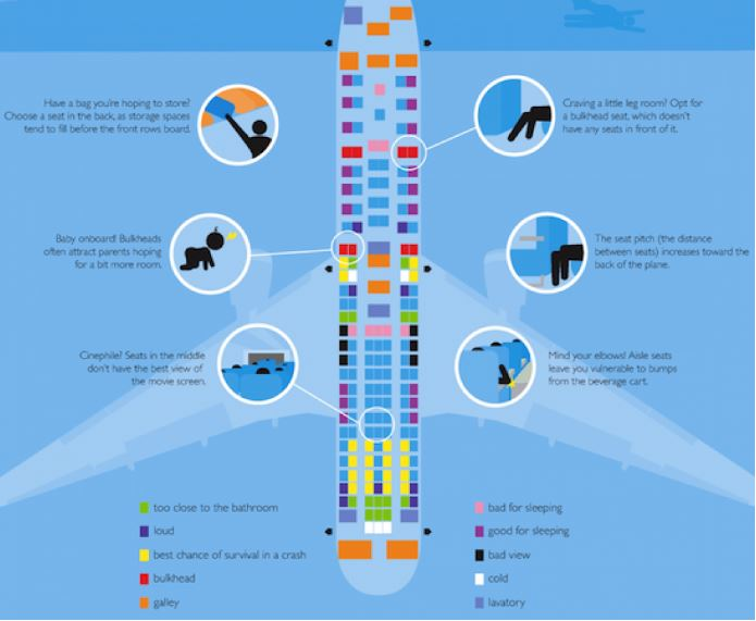 Plane Seat Infographic