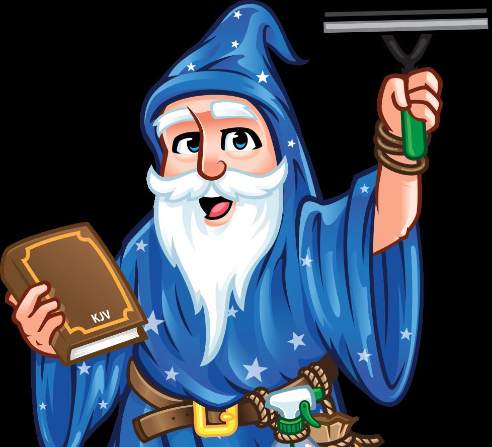 Window Wizard window cleaning mascot