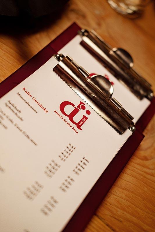 dü Saas Fee Speisekarte, Menü, Weinkarte, Dessertkarte