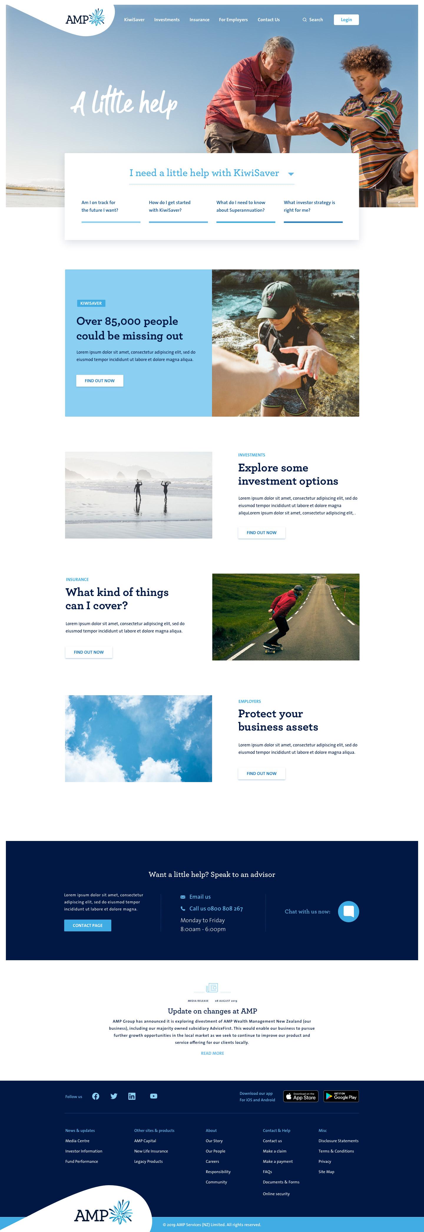 AMP Homepage
