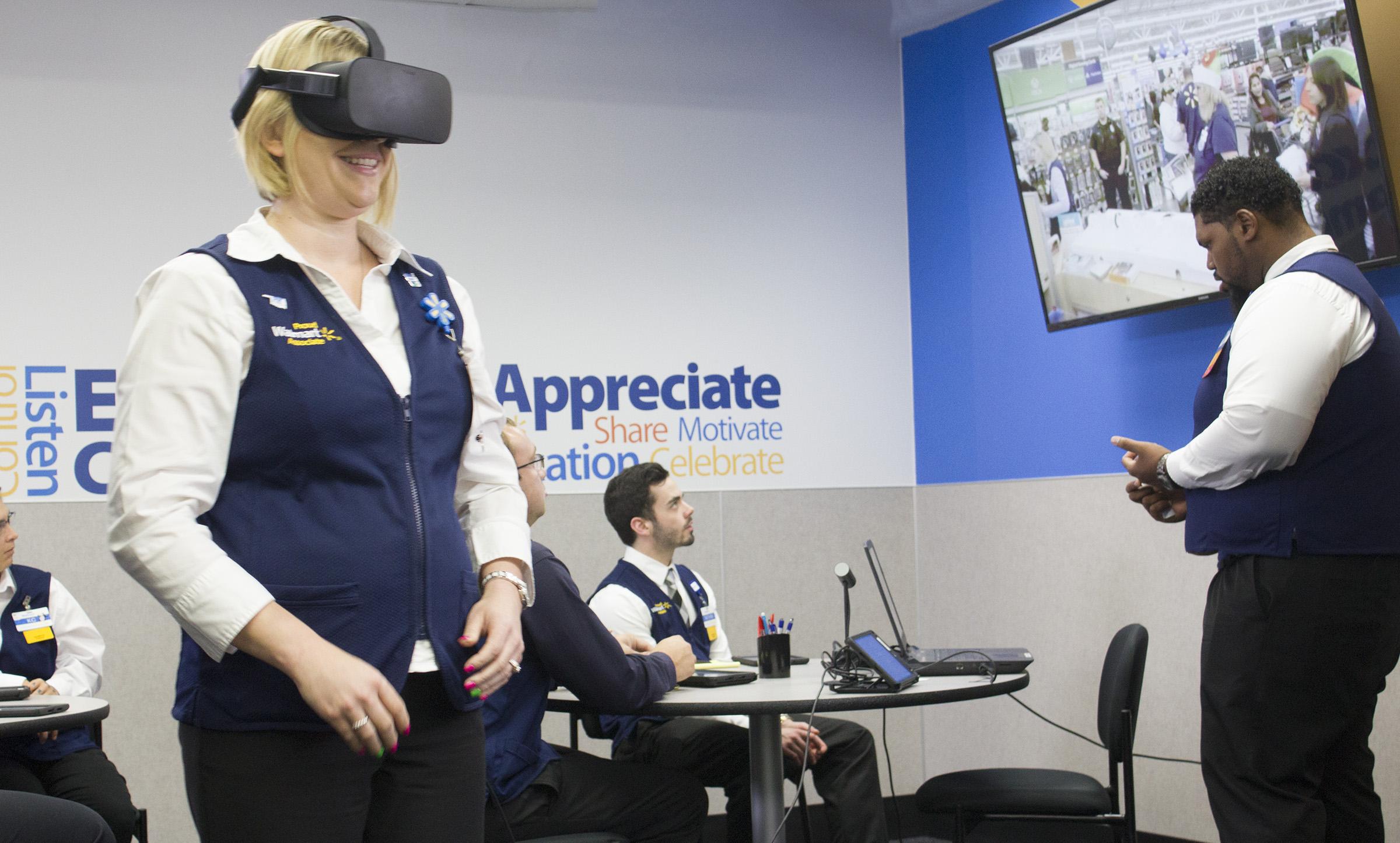 Formation en VR chez Walmart