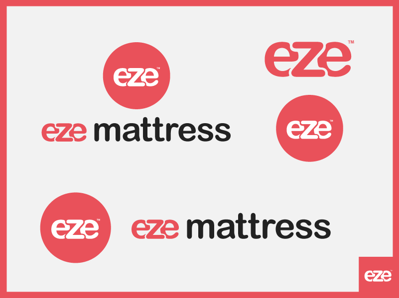 Image showing eze mattress logo versions