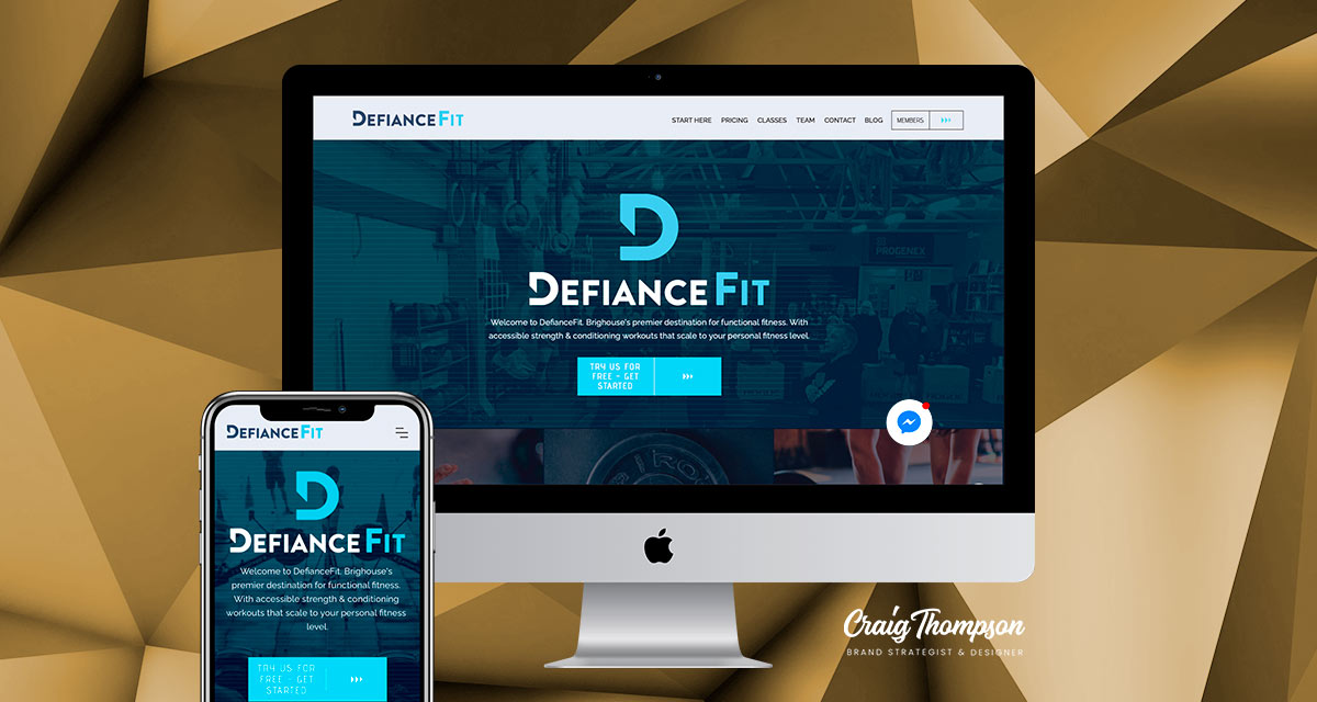 DefianceFit Website & Logo Refresh