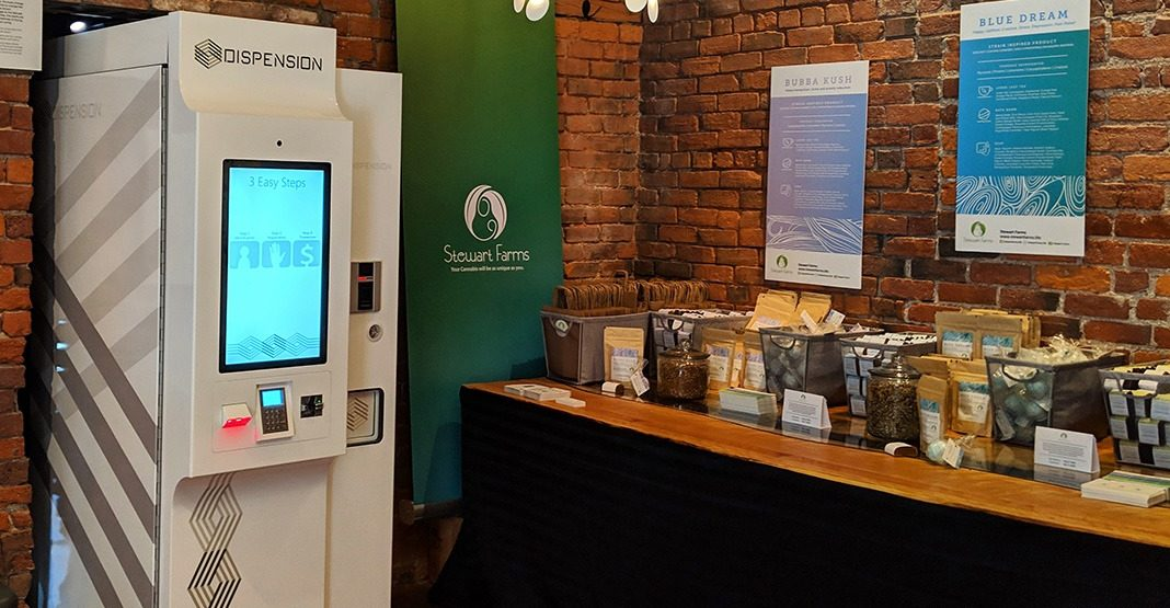 Palm-scanning cannabis vending machines are soon to be a reality in Canada