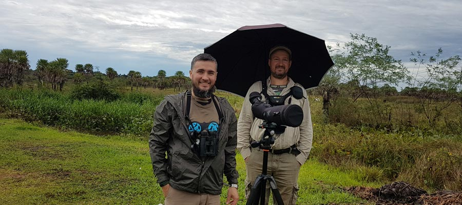 Happy birding in the rain during the Christmas counting with my great friend Jose