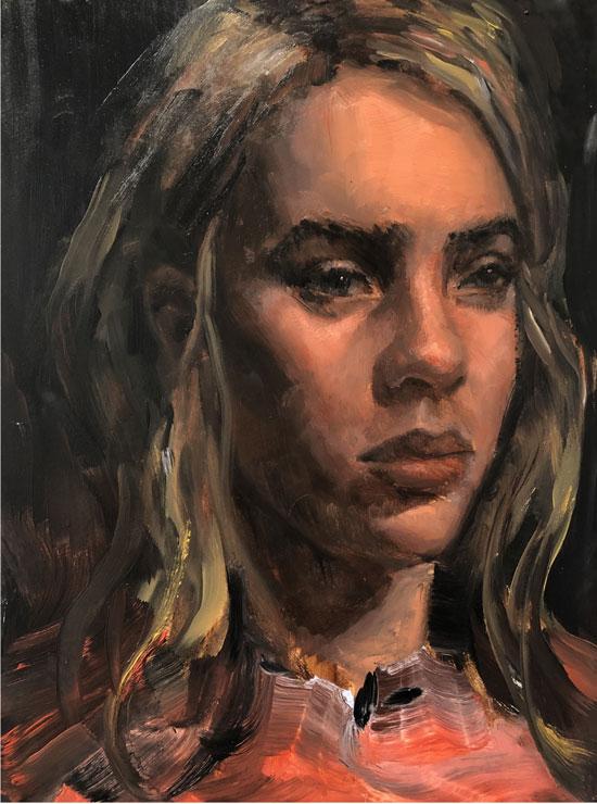 vancouver adult portrait painting class - live model stephanie