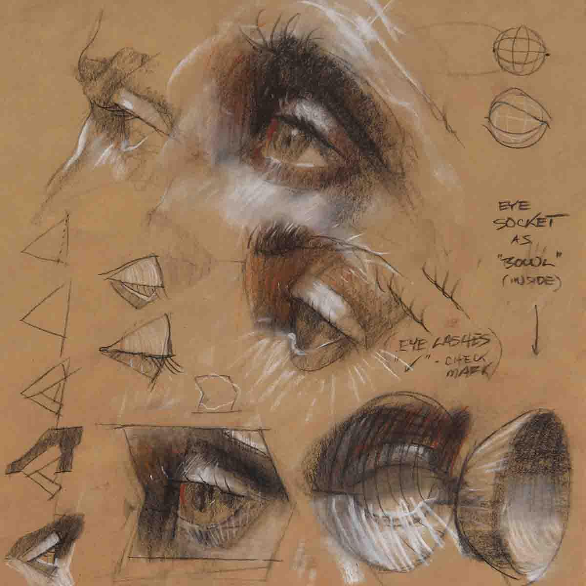 portrait pastel drawing class Vancouver