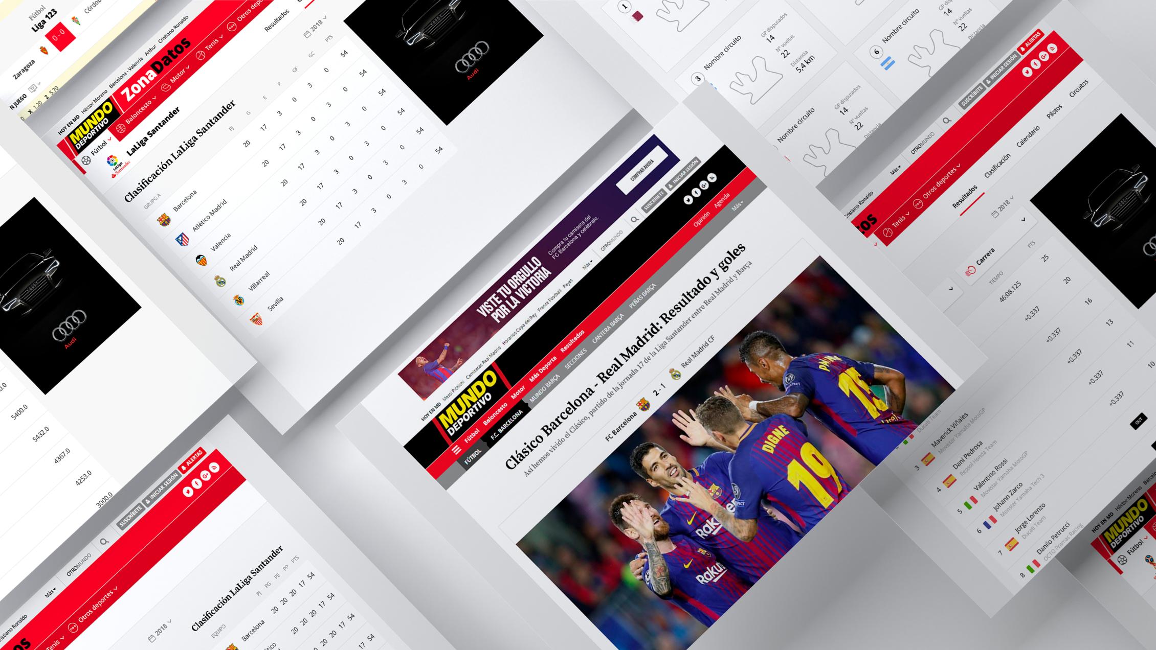 Mundo Deportivo lanzó su sección Zona Datos con una UX desarrollada por Eunoia