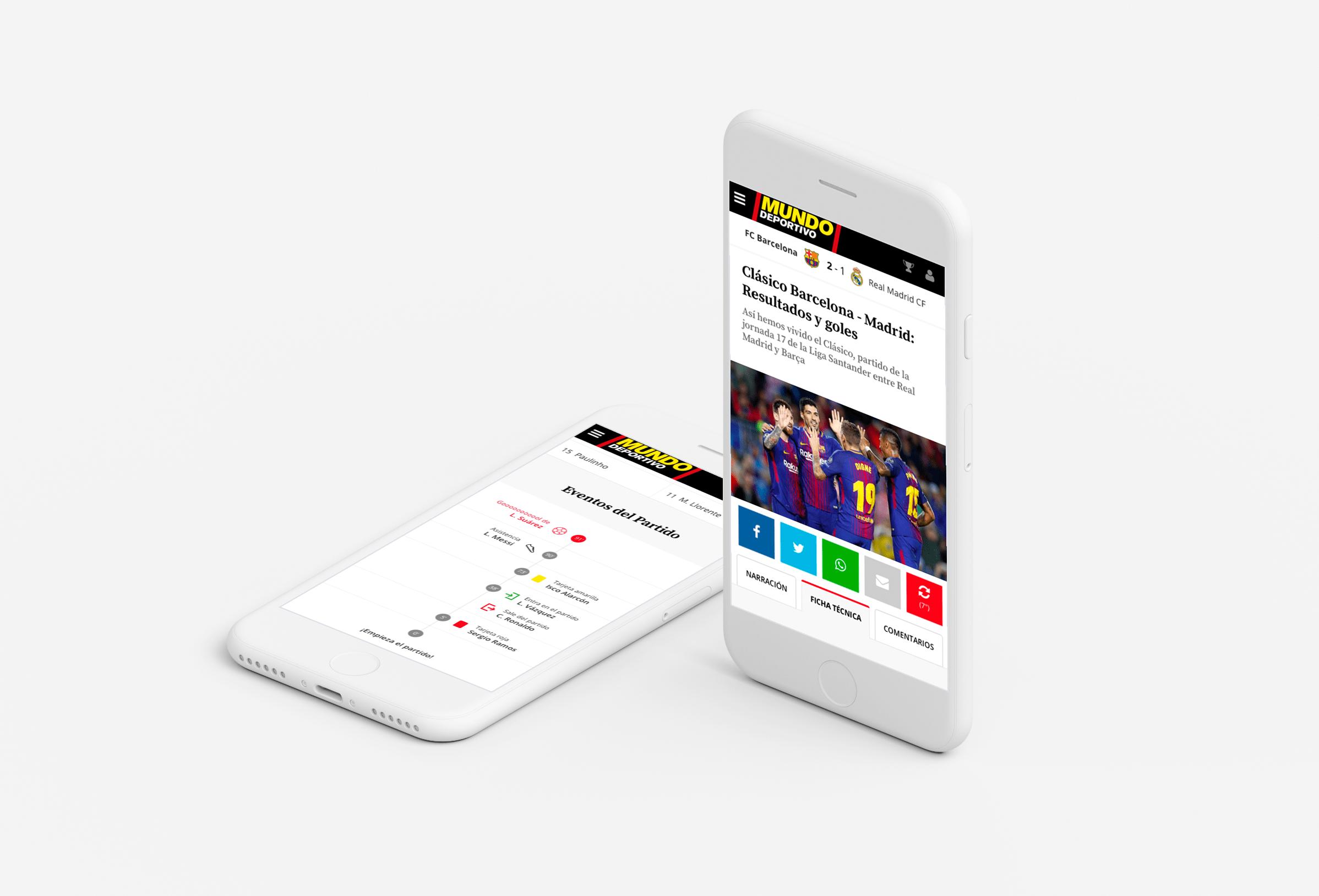Versión móvil de los resultados de Mundo Deportivo por Eunoia