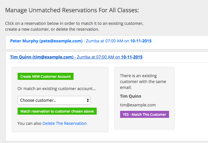 Reservation Matching Simplified! | Functionality