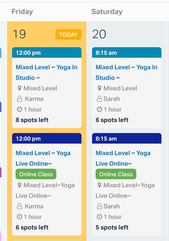 hybrid classes schedule
