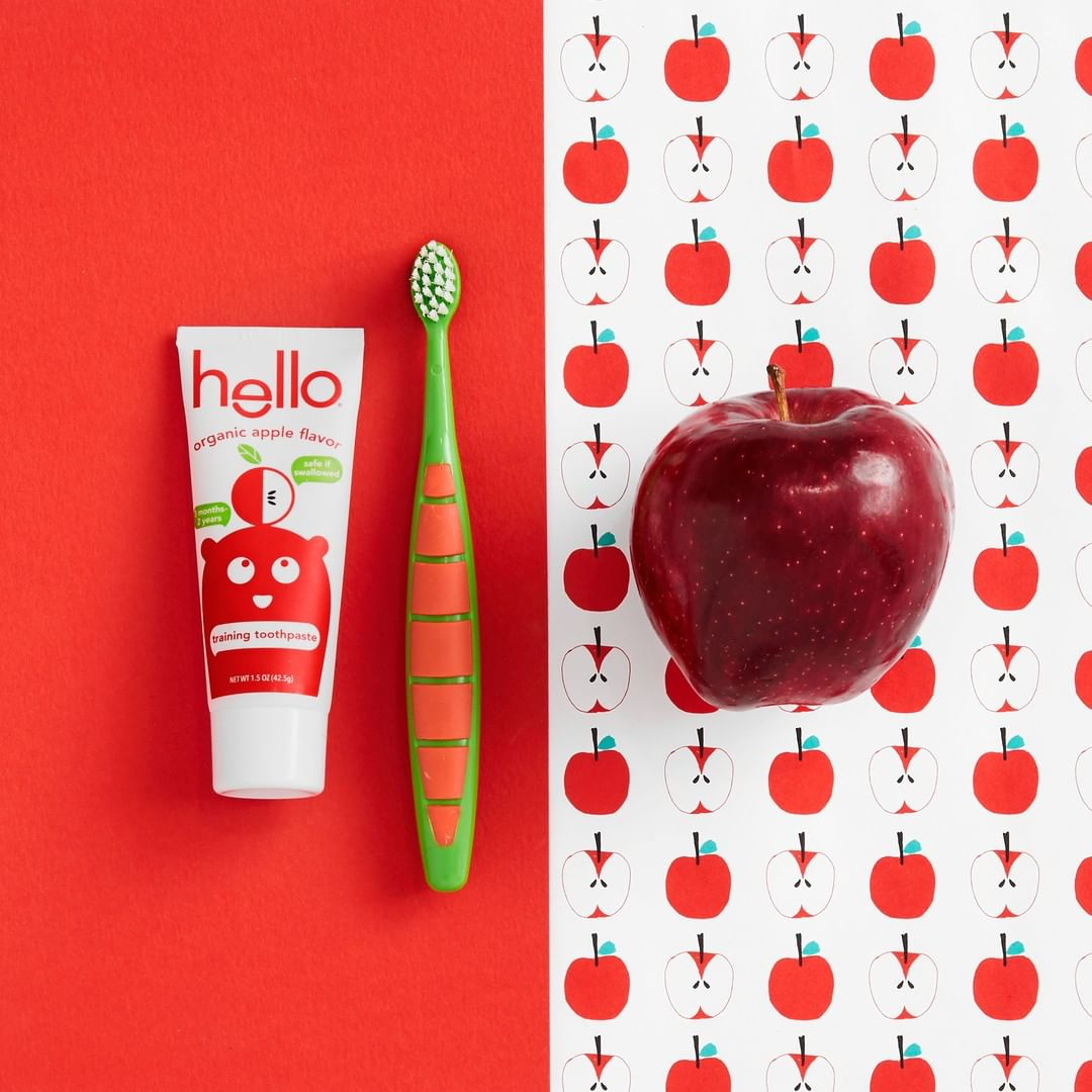 Hello Kids Toothpaste with apples