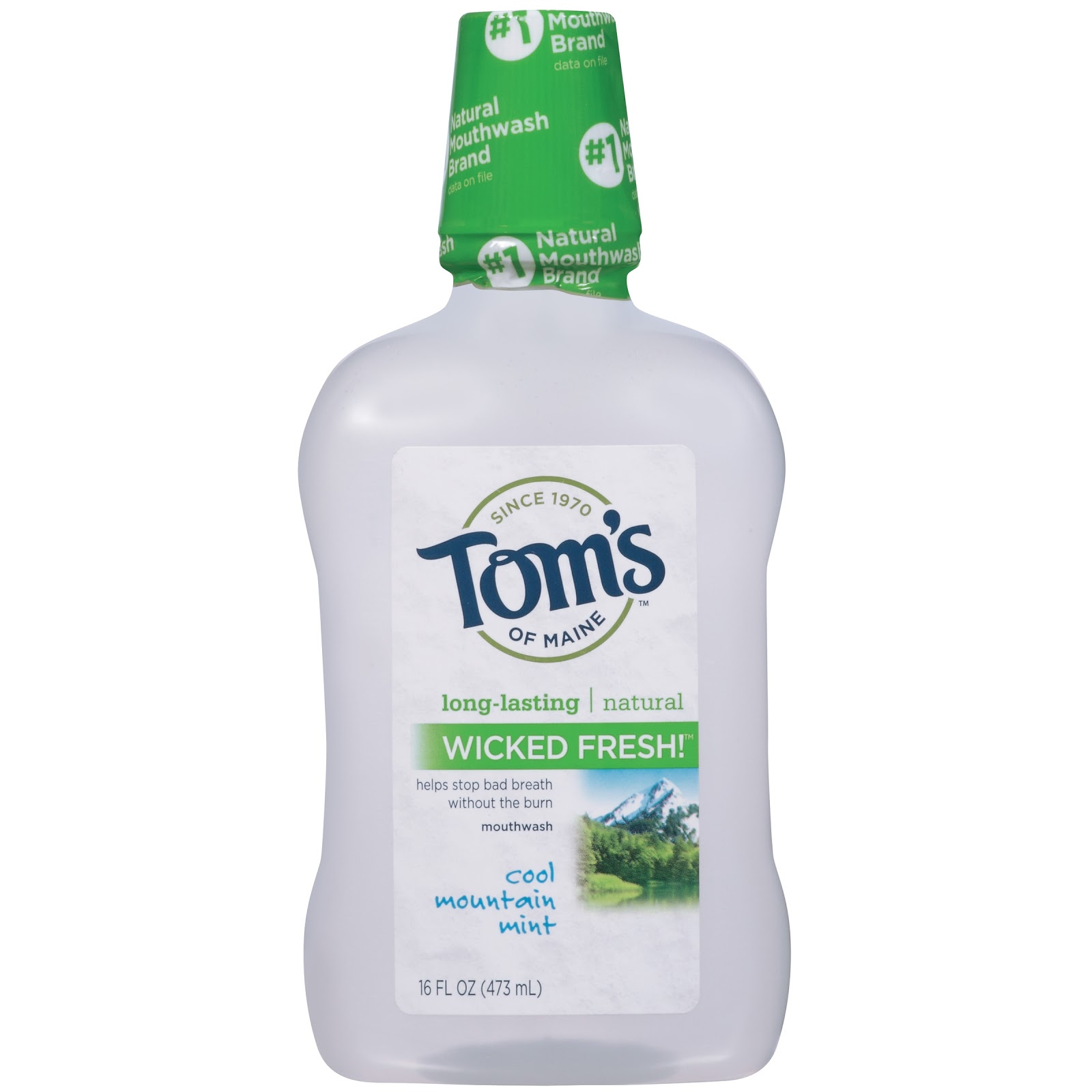Tom's of Maine has been around since 1970 and prides itself on being the #1 natural mouthwash brand.