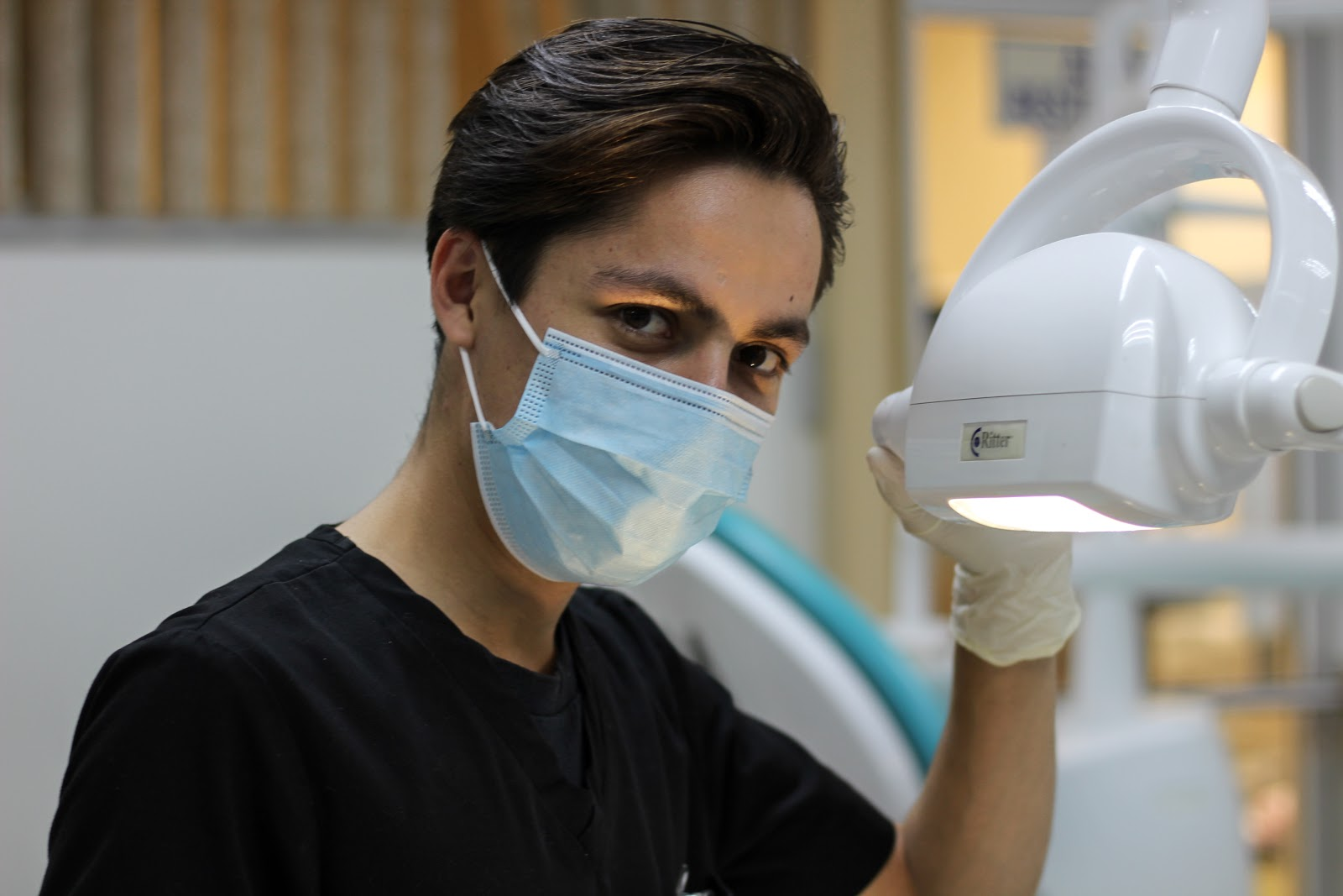 dentist looking into the camera