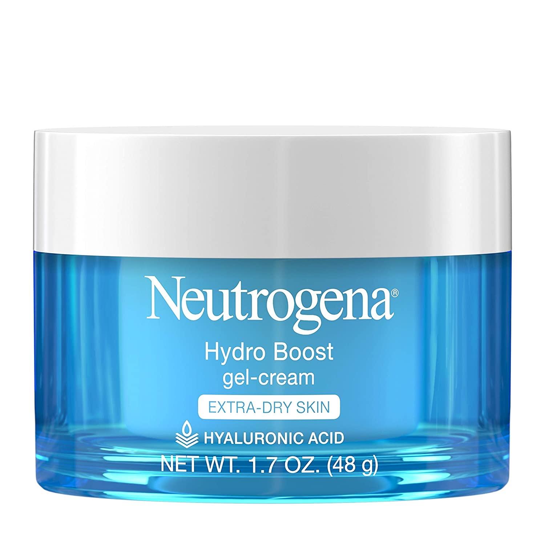 A blue and white jar of Neutrogena Hydro Boost.