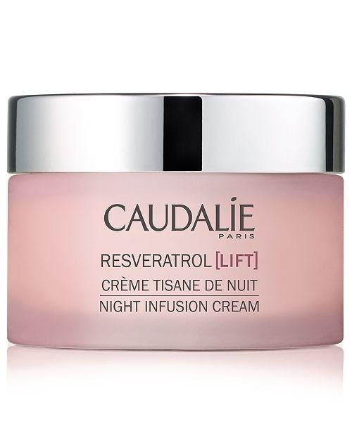 A pink jar of Caudalie Resveratrol cream