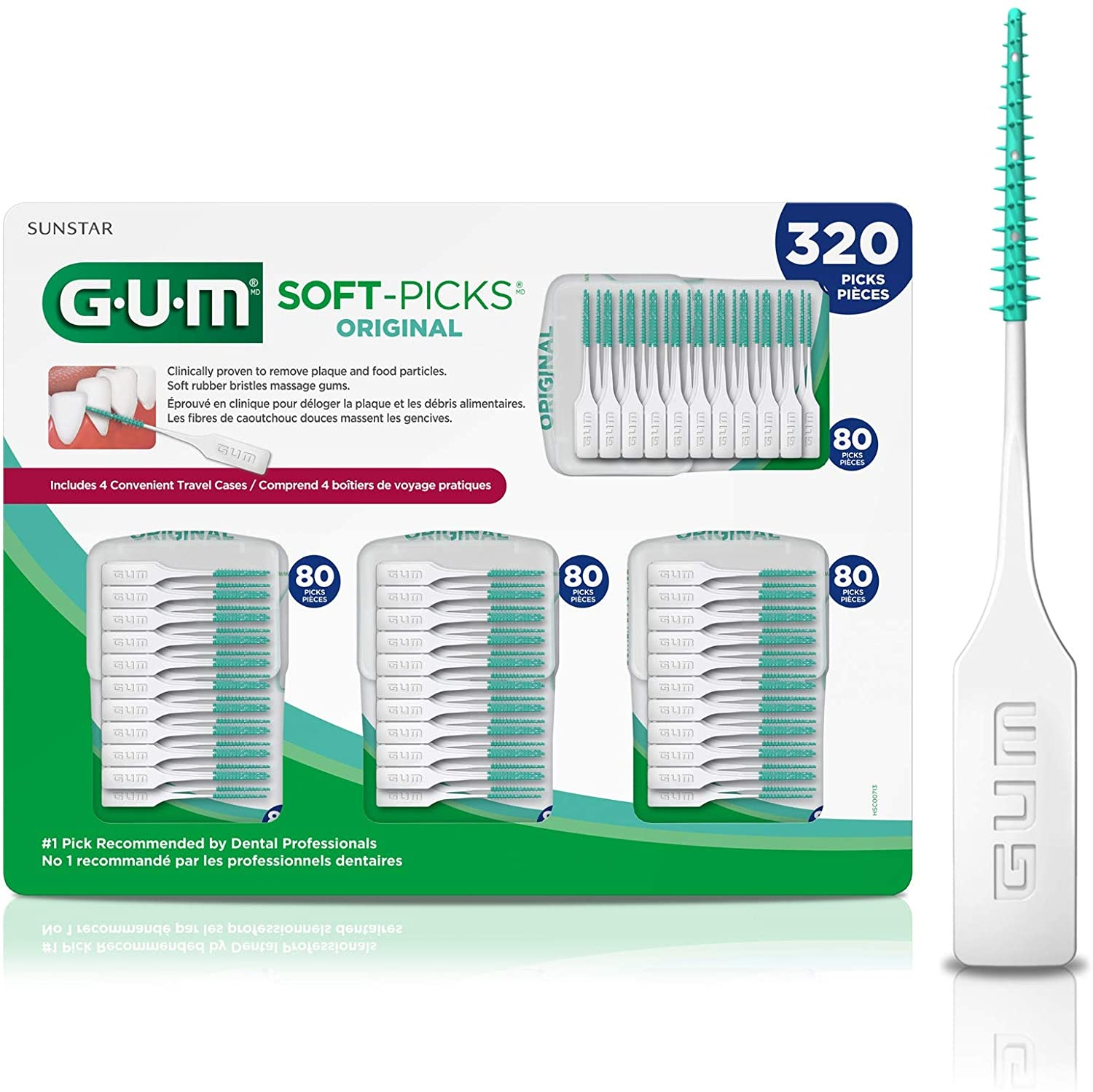 GUM brand dental picks recommended by family dentists for both children and adults