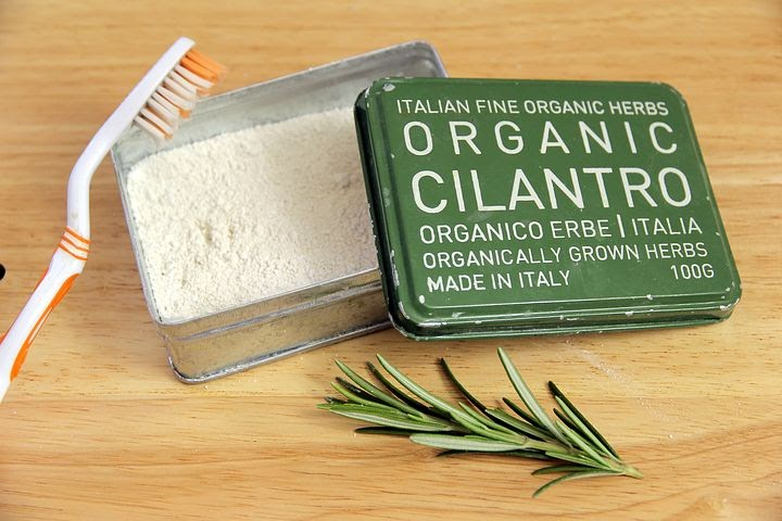 organic herbs that will be used to make natural toothpaste