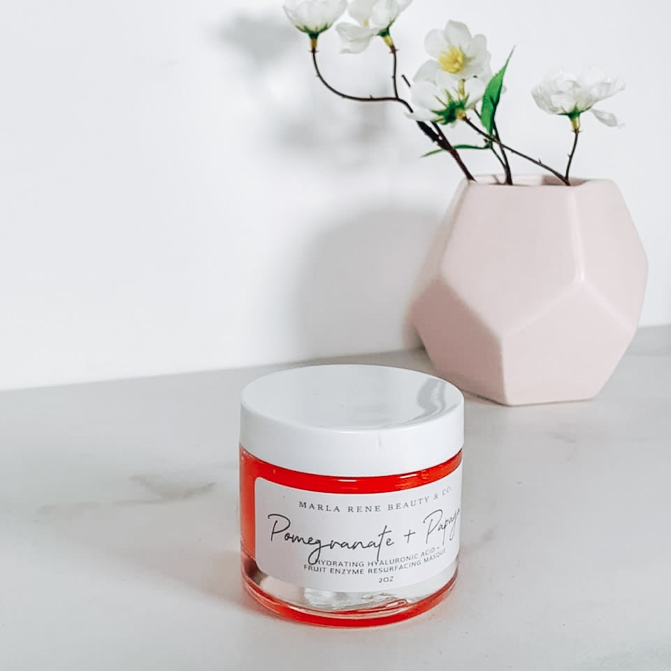 a tub of exfoliator to help with after-sun care