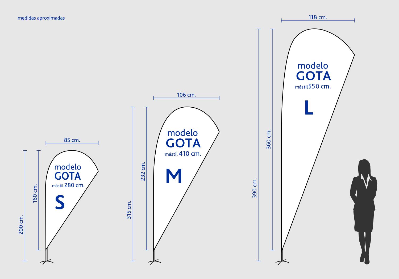 Medidas Fly Banner Gota