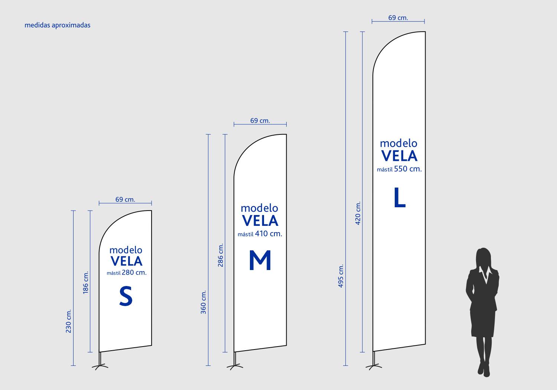 Medidas Flybanner Vela