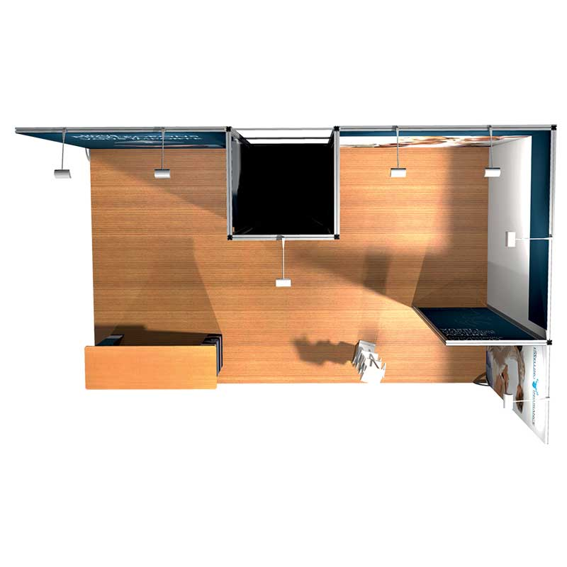 Stand Modular 3x5 vista superior