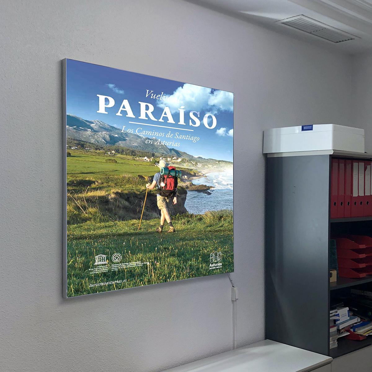 Caja de luz 30 mm con tela