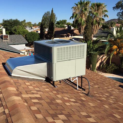 rooftop ac unit on a peoria az home