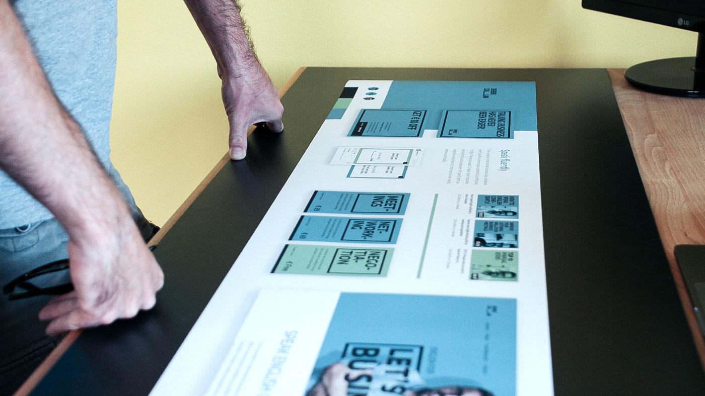Corporate Design erstellen Moodboard Stylescape im Design Thinking Prozess