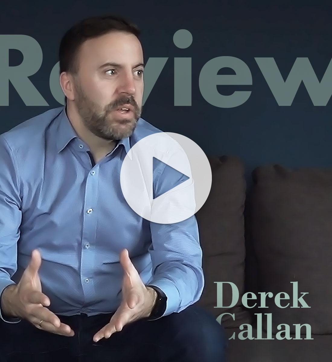Derek Callan Testimonial Referenz mindly Design
