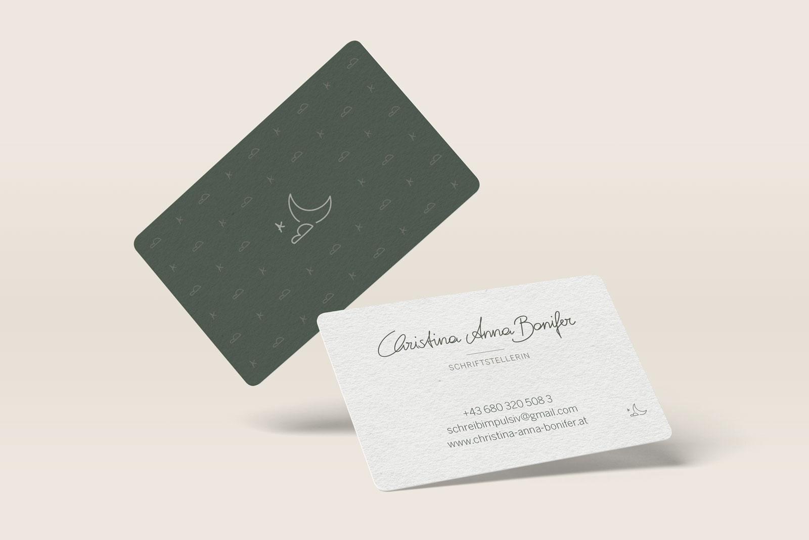 Visitenkarten mit Logo Design gestalten lassen Schriftstellerin