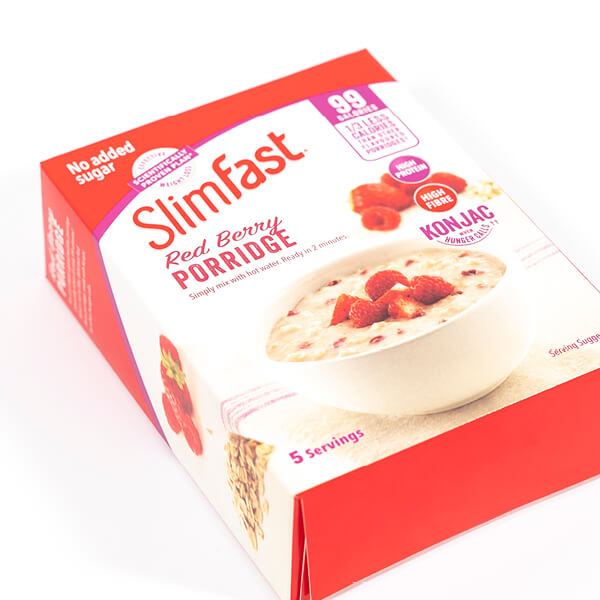 printed card box packaging for cereal product