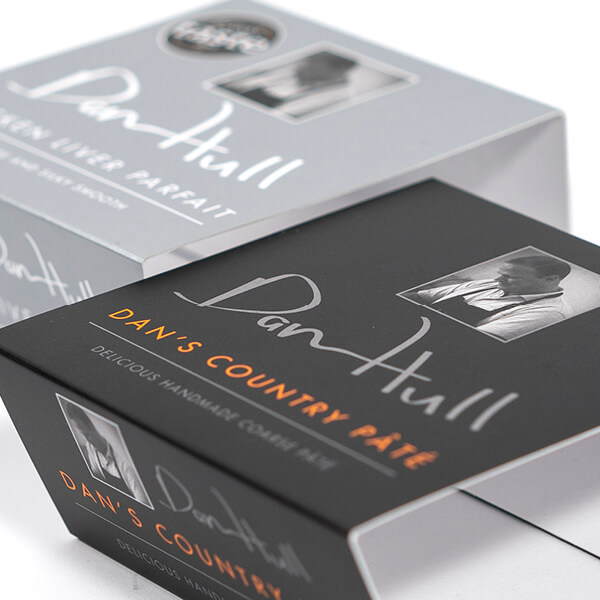 printed card sleeve packaging for food products