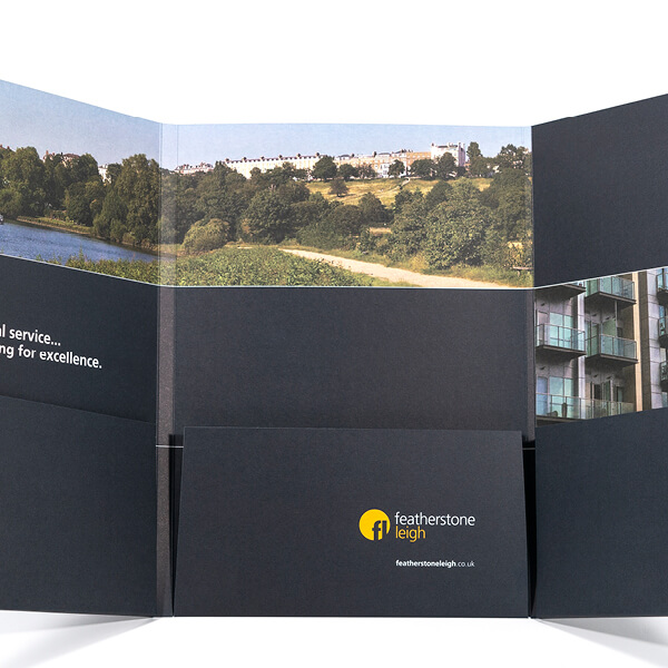 Printed corporate presentation folder