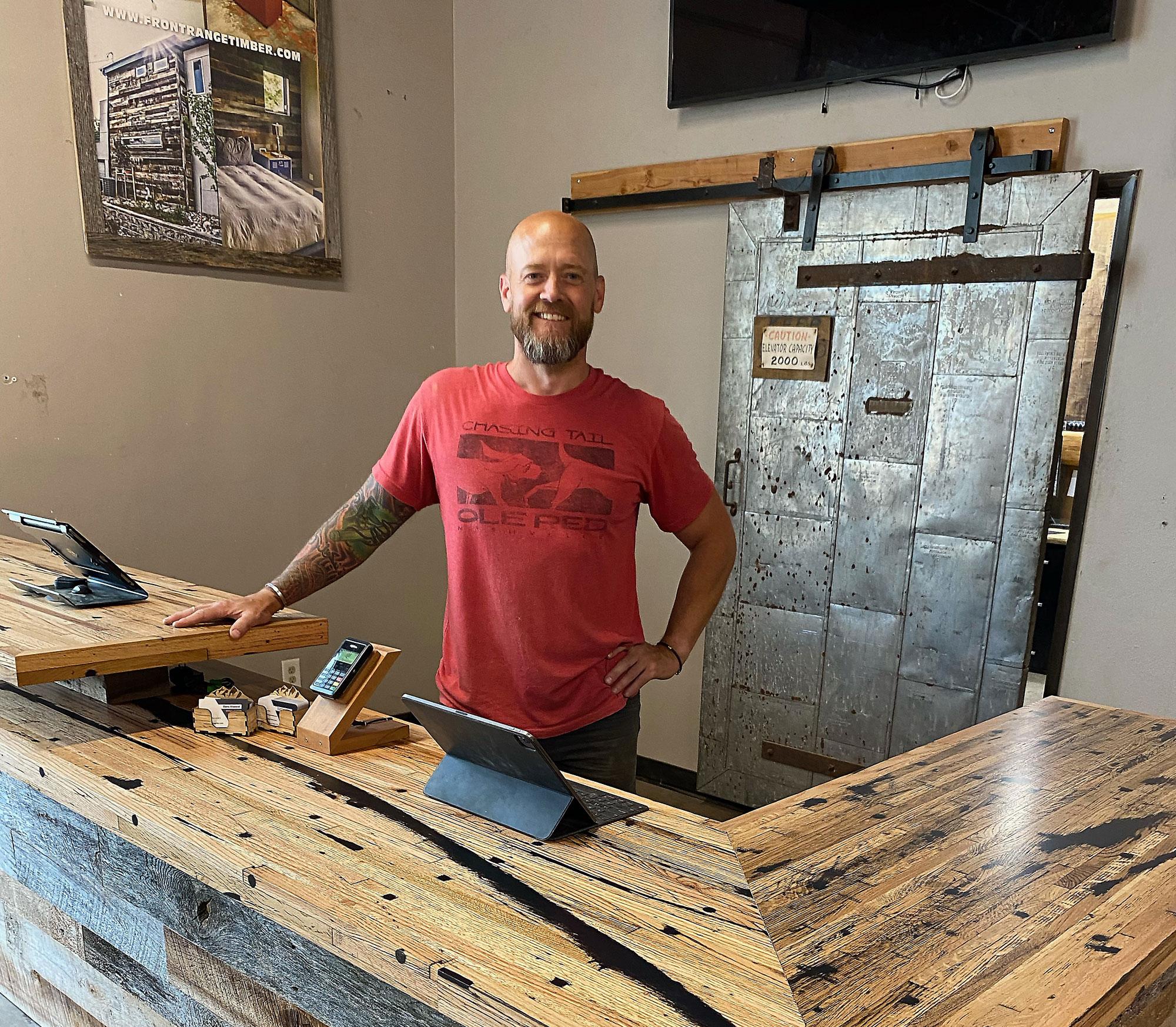 Greg Reinhardt-Ruprecht, owner Front Range Timber