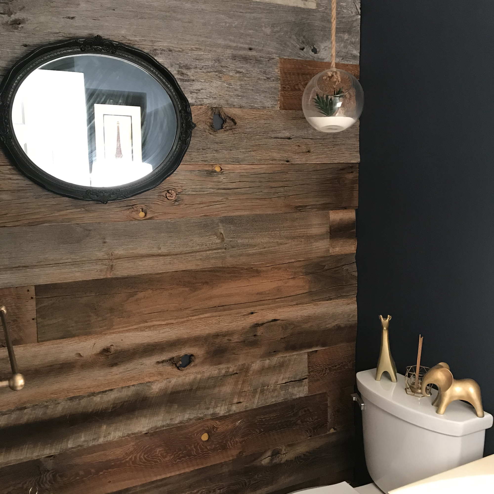 Before And After Bathroom Accent Wall