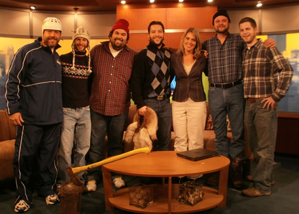 QuickTurn's Novembeard Challenge participants on the set of Fox 9
