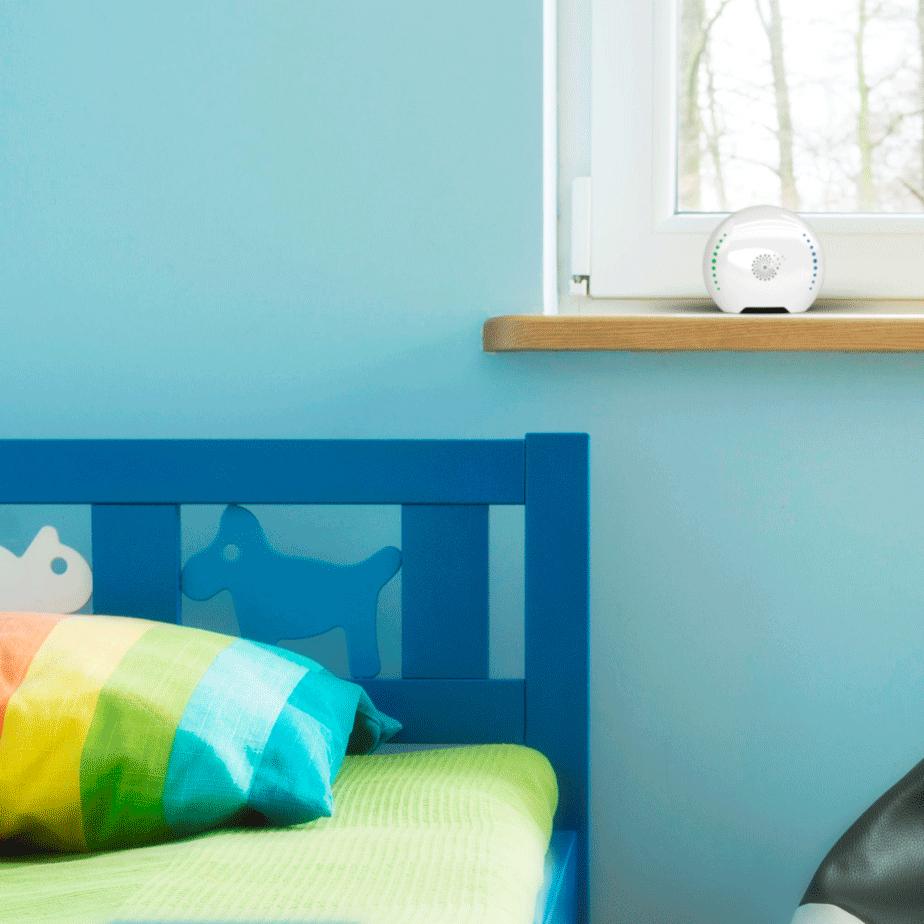air-Q Luftqualität Messgerät im Kinderzimmer