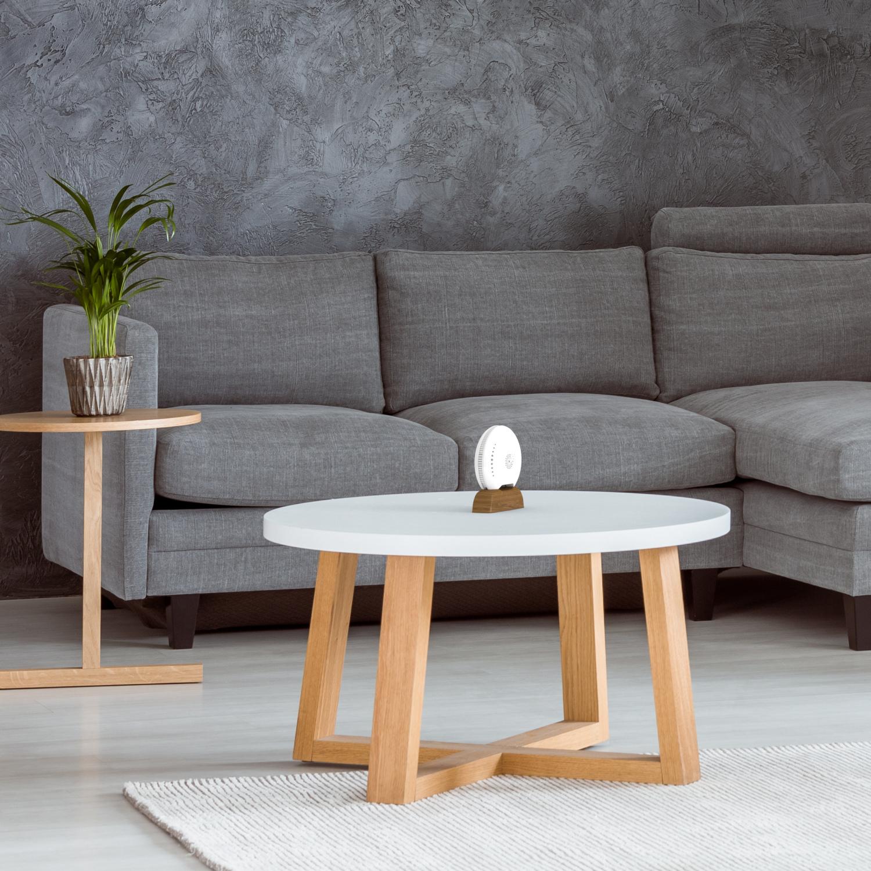 air-Q Luftqualität Messgerät im Wohnzimmer