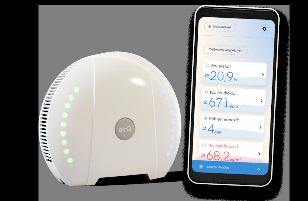 Gesundheit und Leistung mit der air-Q App