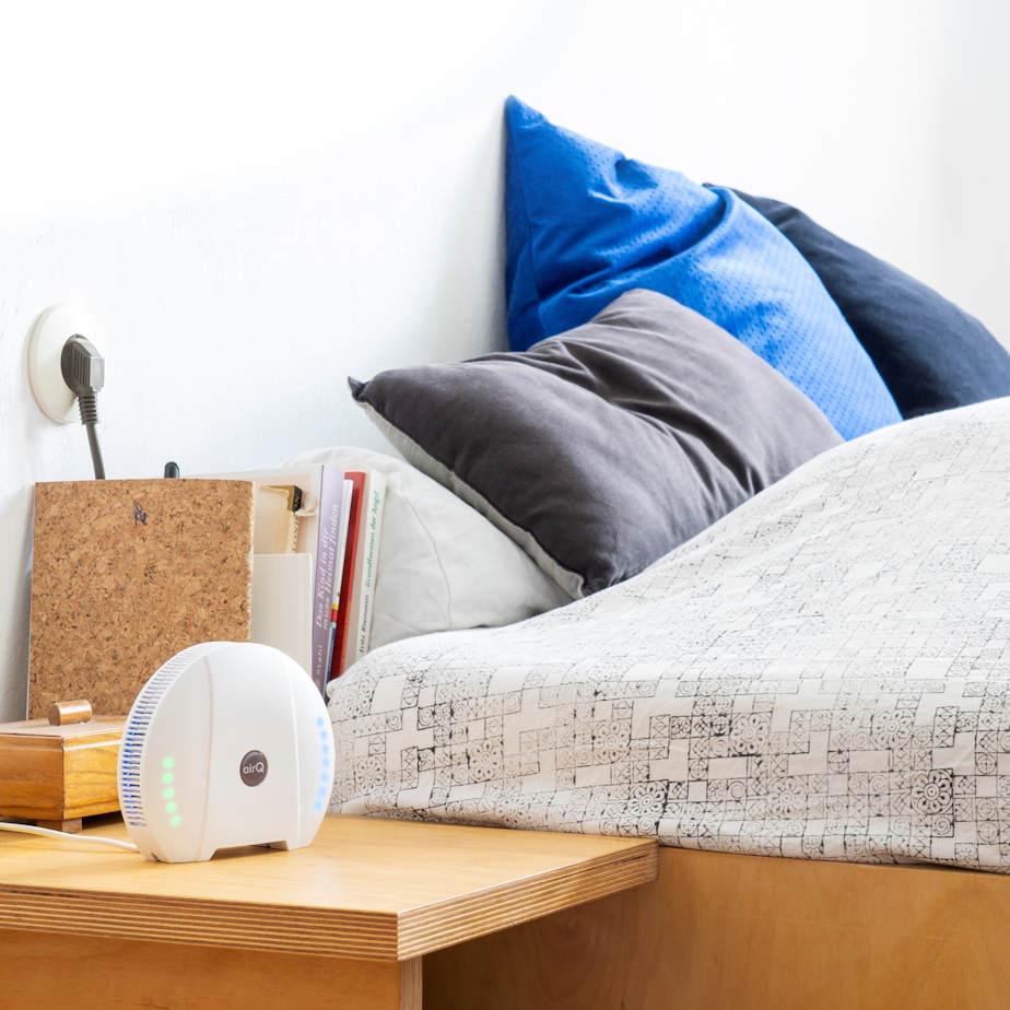 air-Q Luftqualität Messgerät im Wohnzimmer - Schlafzimmer2
