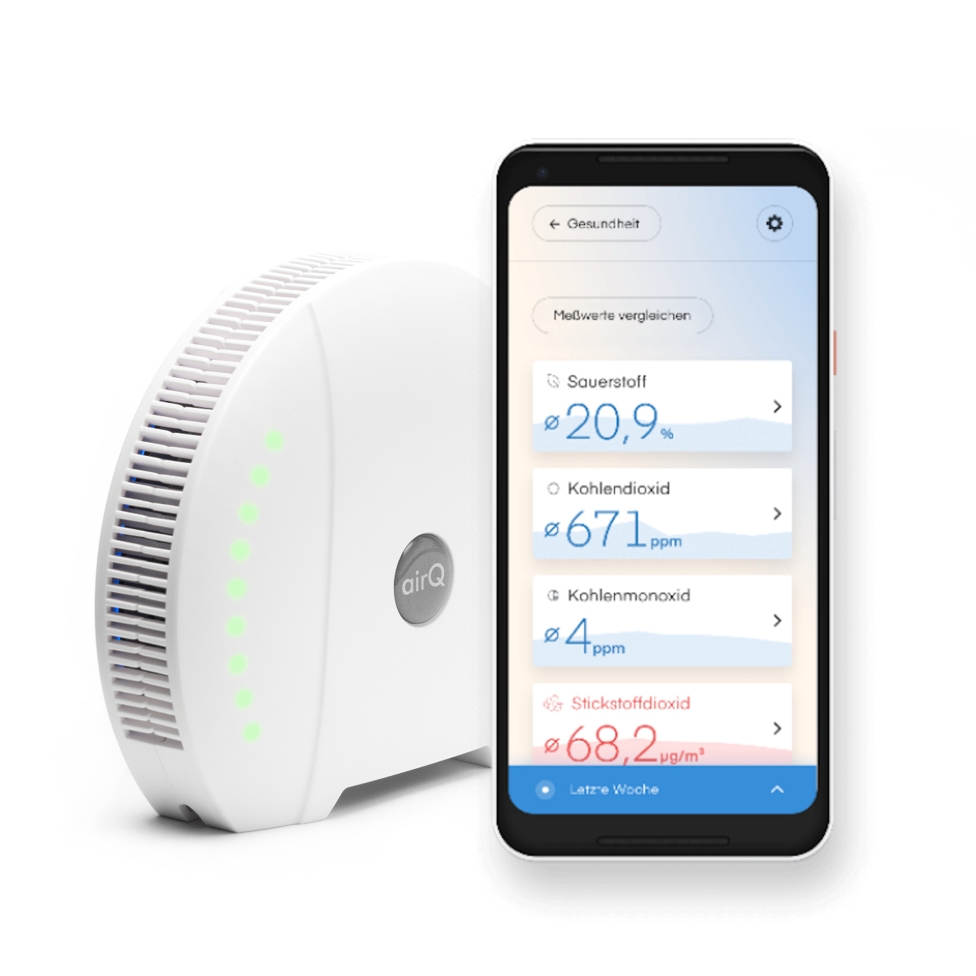 air-Q App Luftqualität erfassen Splash Screen