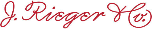 J. Rieger & Co. decorative script
