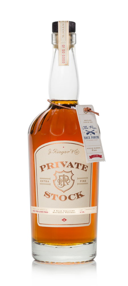 Image of Rieger's Private Stock bottle.