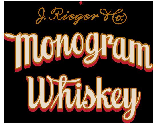 J. Rieger & Co. Monogram Whiskey graphic lockup